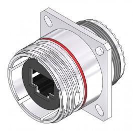Cat 6a Square Flange - 38999 Series III Style