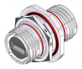 USB-A 2.0 Jam Nut Bulkhead - 38999 Style