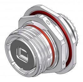 USB-B Jam Nut - 38999 Style