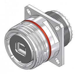USB-B Square Flange Receptacle - 38999 Style