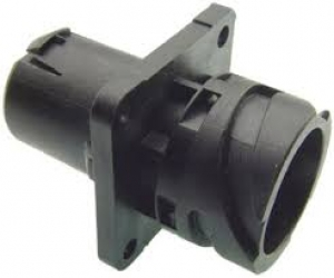 APD Connector, Flange Receptacle, 4 Way, Black - Click for more info