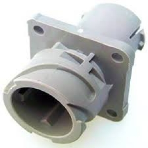 APD Connector, Flange Receptacle, 4 Way, Grey - Click for more info