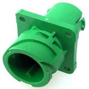 APD Connector, Flange Receptacle, 4 Way, Green - Click for more info
