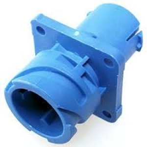 APD Connector, Flange Receptacle, 4 Way, Blue - Click for more info