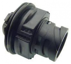 APD Connector, High Power Jam Nut Receptacle, 1 Way, Black - Click for more info
