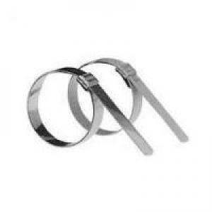 Termination Band, Coiled, Stainless Steel, Stamped Buckle, .250 x 14.25 - Click for more info