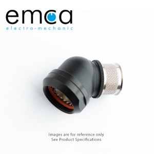 EMCA Banding Backshell, 45 Deg, Size 19, Entry 25.4mm, Black RoHs - Click for more info