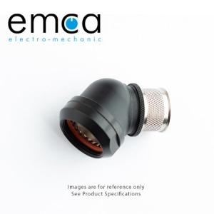 EMCA Banding Backshell, 45 Deg, Size 23, Entry 17.4mm, Black RoHs - Click for more info