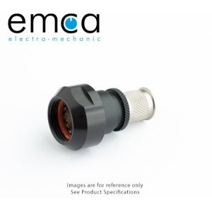 EMCA Banding Backshell, Straight, Size 11, Entry 7.9mm, Black RoHS - Click for more info