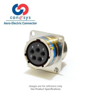 Connector - Narrow Flange Receptacle, Crimp Contacts - Click for more info