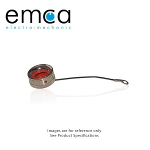 Protective Cap for Receptacle, Size 18, Black Wire Rope With Eyelet, Al-Ni - Click for more info