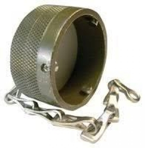 Metal Protecting Cap for Receptacle with Chain, Size 28, Al-Cd - Click for more info