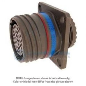 Connector, Wall Mount Receptacle, Crimp, Composite Cd - Click for more info