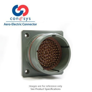 Connector, Wall Mount Receptacle, Crimp, Black Al-Zn-Ni - Click for more info