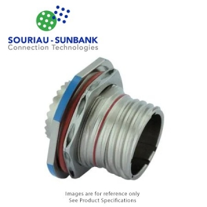 Connector, Jam Nut Receptacle, Crimp, Stainless Steel - Click for more info