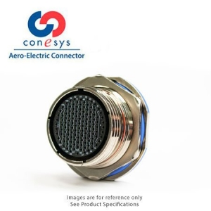 Connector, Jam Nut Receptacle, Crimp, Zn-Ni Black - Click for more info
