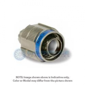 Connector, Straight Plug, Grounded, Crimp, Composite Ni - Click for more info