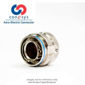 Connector, Straight Plug, Grounded, Crimp, Zn-Ni Black - Click for more info
