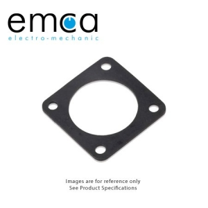 Flanged Gasket, Back Panel Mounting, Shell Size 10SL, Neoprene - Click for more info