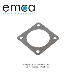 EMI/RFI Gasket, Shell Size 14, Silicone With Woven Aluminum Wire Mesh Screen - Click for more info