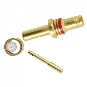 Coaxial Contact, Size 12, Pin,  RG174, RG179, RG316 - Click for more info