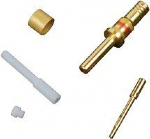 Coaxial Contact, Size 16, Pin, RG174, RG179, RG316 - Click for more info