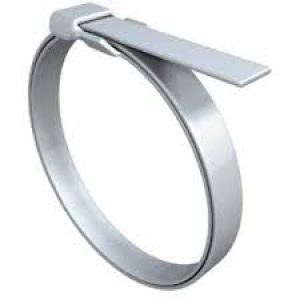 Termination Band, Flat, Stainless Steel, Stamped Buckle, .120 x 8.125 - Click for more info