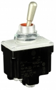 Toggle Switch, 2 pole, 2 position, Screw terminal, Standard Lever - Click for more info