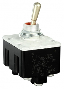 Toggle Switch, 4 pole, 2 position, Screw terminal, Standard Lever - Click for more info
