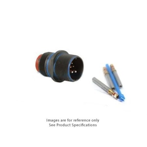 Connector, Cable Connecting Receptacle, Rear Release Crimp Contacts, Al-Cd - Click for more info