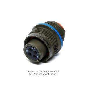 Connector, Straight Plug, Rear Release Crimp Contacts, Al-Cd - Click for more info