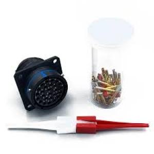 Connector, Straight Plug, Crimp, Black Anodize - Click for more info