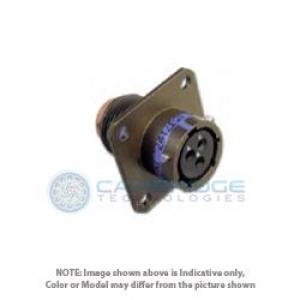 Connector, Wide Flange Receptacle, Crimp, Al-Cd - Click for more info