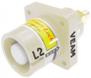 Powerlock, Panel Source Male, White, 660amp - Click for more info