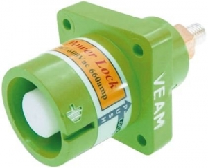 Powerlock, Panel Source Male, Green, 660amp - Click for more info