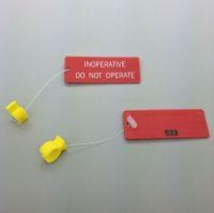 Circuit Breaker Lockout Ring & Tag - INOPERATIVE DO NOT OPERATE, (Yellow Ring) - Click for more info